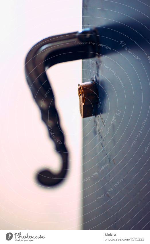 geöffnete metallische Tür mit Klinkengriffnahaufnahme Reichtum Stil Design Wohnung Möbel Accessoire Metall Stahl modern neu Sicherheit Schutz Geborgenheit Ende