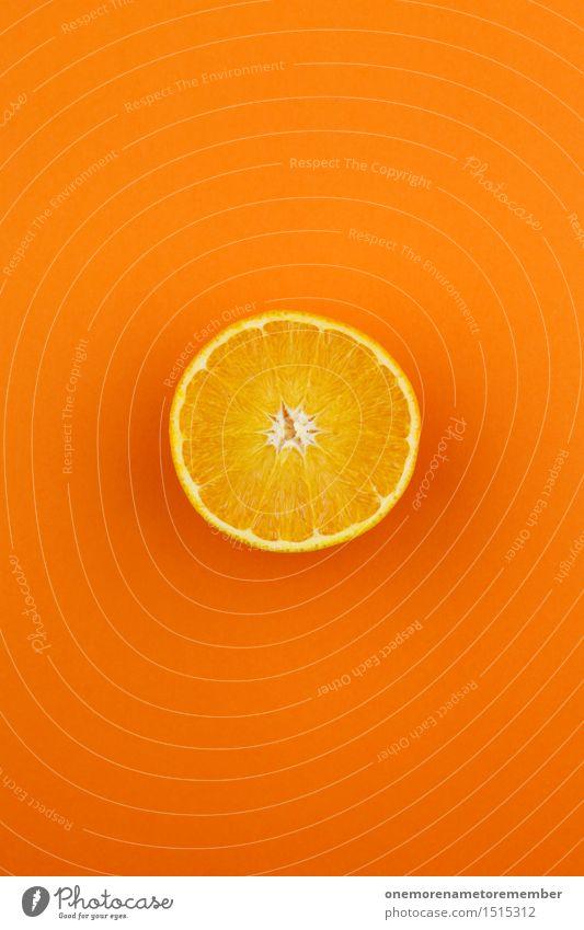 Jammy Orangenhälfte auf Orange Kunst Kunstwerk ästhetisch vitaminreich Vitamin C Orangensaft Orangenscheibe lecker Gesunde Ernährung Bioprodukte Südfrüchte