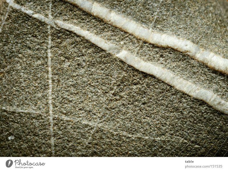 menschlich weiß Strand grau Stein Linie Wut Makroaufnahme Material Ärger hart Mineralien Partizipation