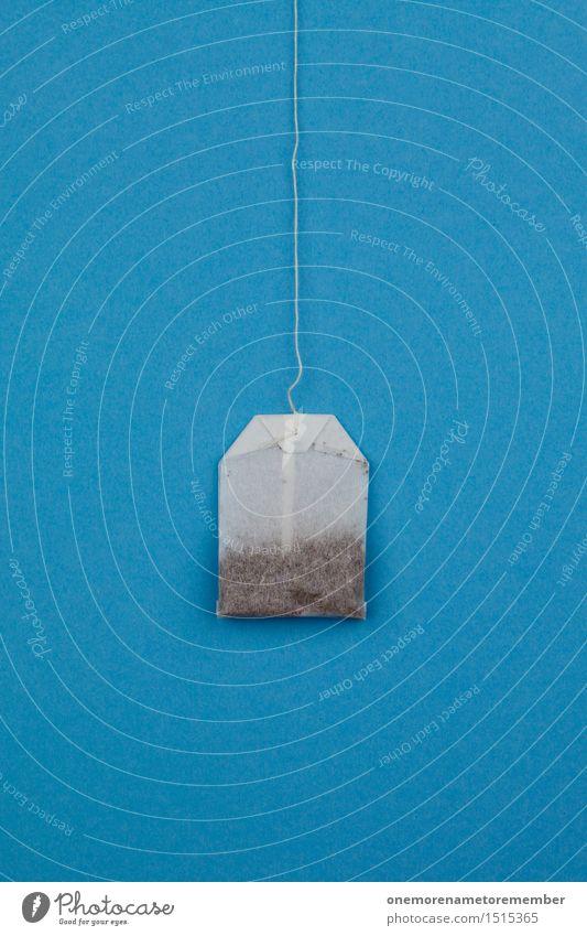 Einfach mal Teebeuteln Kunst Kunstwerk ästhetisch Teepflanze Teehaus blau hängen graphisch Design Idee Erkältung Medikament Farbfoto mehrfarbig Innenaufnahme