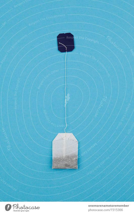 auf'n Tee mit hoch? blau Gesundheit Kunst ästhetisch Getränk Erkältung Tee Teepflanze Kunstwerk Beutel Teebeutel Teehaus