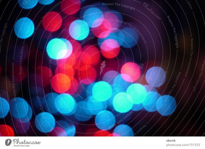 Christmas Blur Licht blau rot Unschärfe mehrfarbig F/2.0 Lights Leuchtdiode