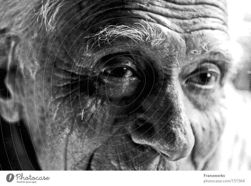 Albert. Mann alt Senior Mensch Zeit Vergänglichkeit Hautfalten Müdigkeit Vergangenheit Großvater Ruhestand Generation klug Weisheit gelehrt Großeltern