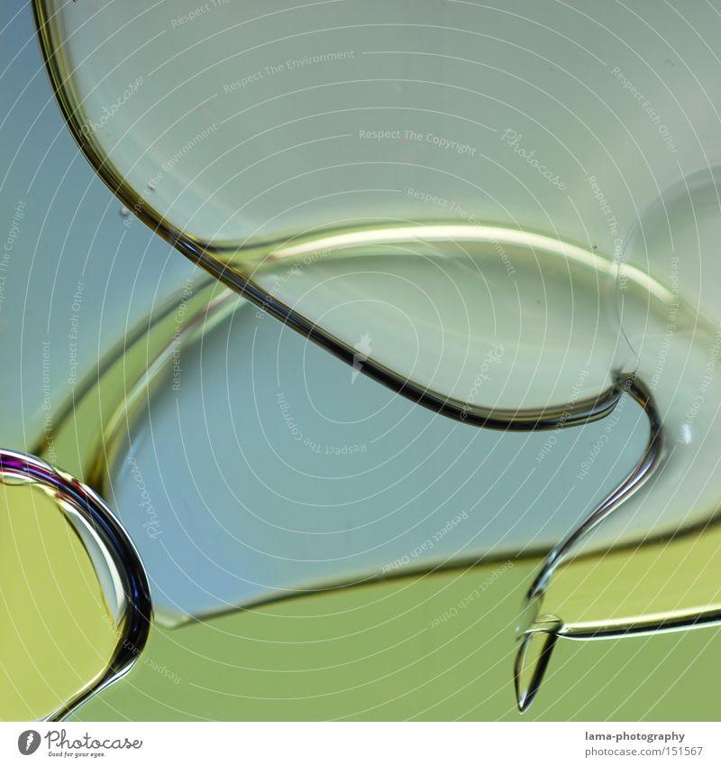 liquid Wasser grün Farbe abstrakt Luft Physik Wissenschaften Flüssigkeit Luftblase fließen Chemie Blase liquide Gel künstlich hell-blau