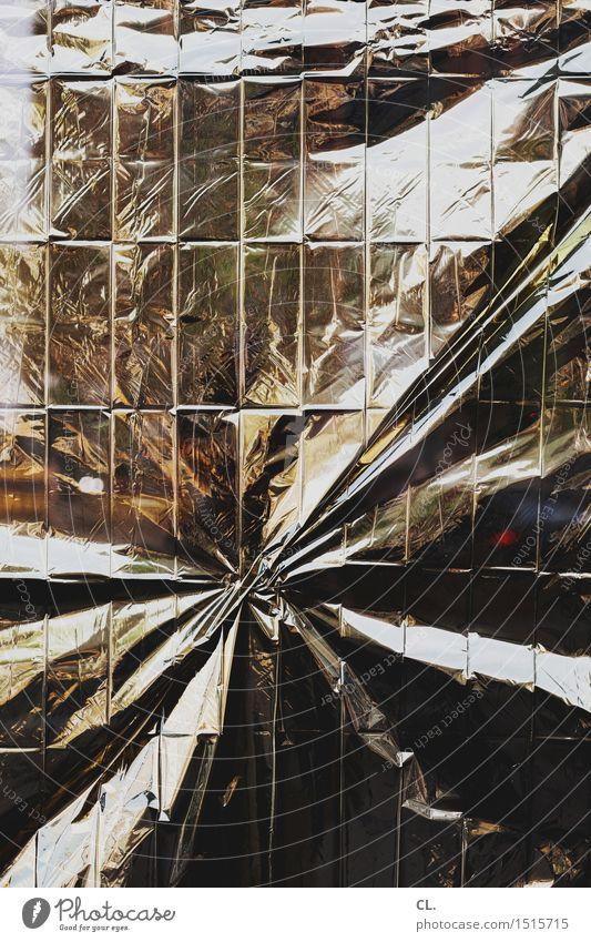 gold Folie Kunststoff ästhetisch außergewöhnlich Inspiration komplex Kreativität Falte Knick Farbfoto abstrakt Strukturen & Formen Menschenleer
