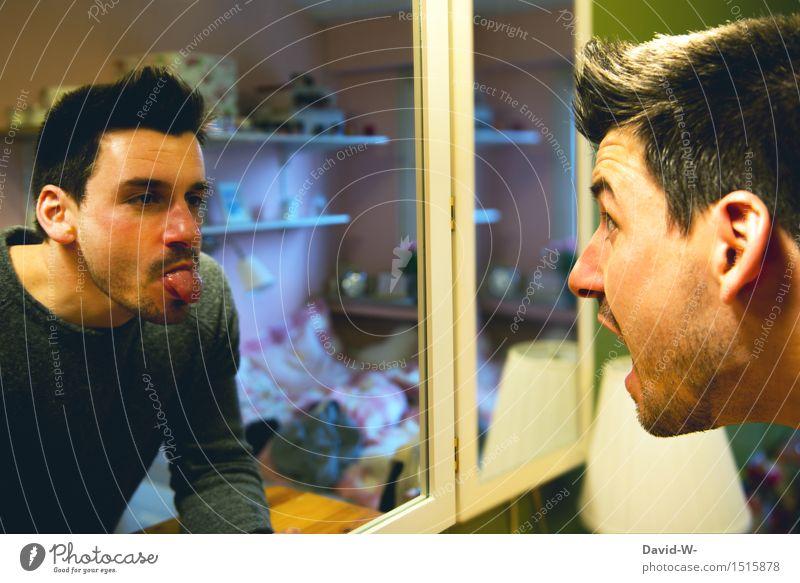 ich kenn mich selbst nicht mehr Mensch maskulin Junger Mann Jugendliche Erwachsene Leben Kopf 1 Kunst beobachten Kommunizieren Gefühle Selbstbeherrschung