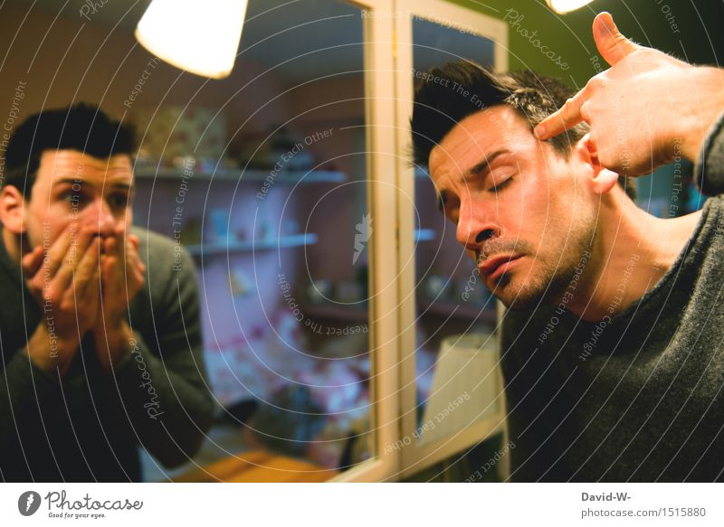 Selbstmordgedanken Lifestyle Bildung Studium Prüfung & Examen Mensch maskulin Junger Mann Jugendliche Erwachsene Leben 1 2 Kunst Künstler Schauspieler
