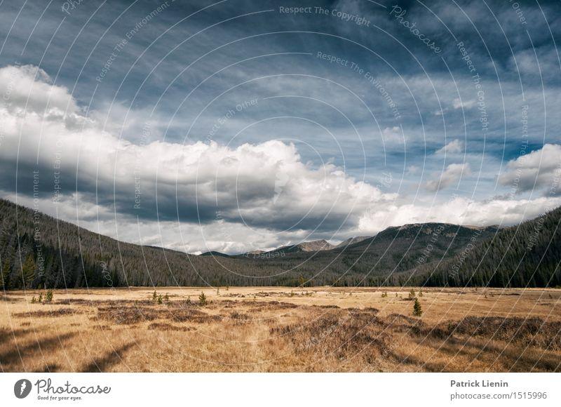 Rocky Mountains National Park Himmel Natur Ferien & Urlaub & Reisen Landschaft Einsamkeit Wolken Ferne Wald Berge u. Gebirge Umwelt Freiheit See Felsen