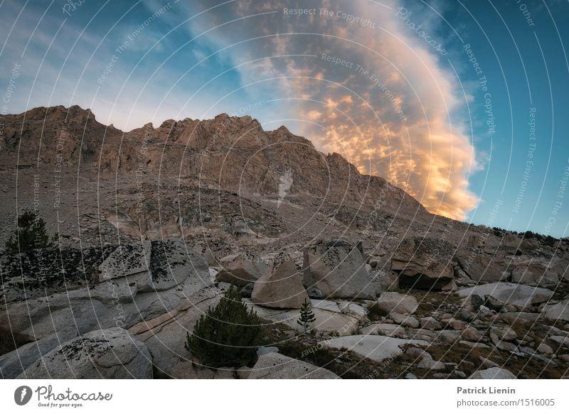Fire in the Sky Ferien & Urlaub & Reisen Abenteuer Sommer Sonne Berge u. Gebirge wandern Umwelt Natur Landschaft Urelemente Himmel Wolken Klima Klimawandel