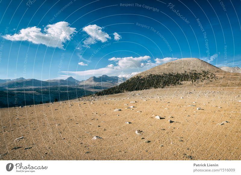 Bighorn Plateau Ferien & Urlaub & Reisen Abenteuer Sommer Berge u. Gebirge wandern Umwelt Natur Landschaft Urelemente Sand Himmel Wolken Klima Klimawandel