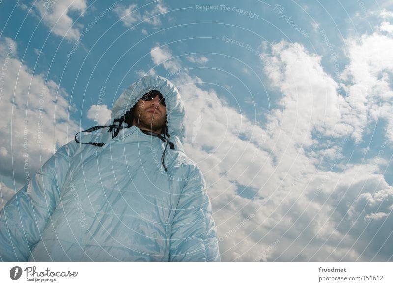 wintergrau™ Mann Jugendliche Sommer Freude Gesicht Wärme Kunst lustig verrückt Coolness Kultur stark Sonnenbrille Schlafsack