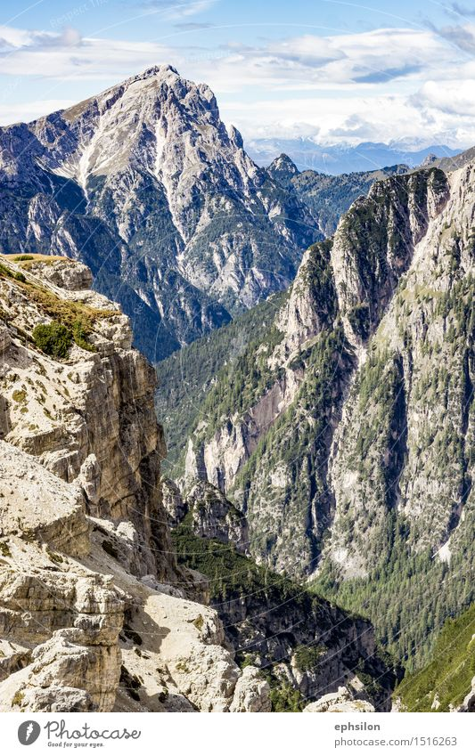 Berge Südtirol Natur Landschaft Frühling Sommer Herbst Hügel Felsen Alpen Berge u. Gebirge Gipfel Stein blau grau grün Farbfoto Außenaufnahme Tag