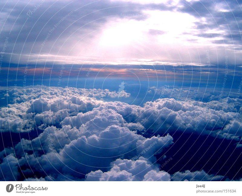 Himmel über Afrika schön Himmel Sonne Wolken Stimmung fliegen Luftverkehr Afrika