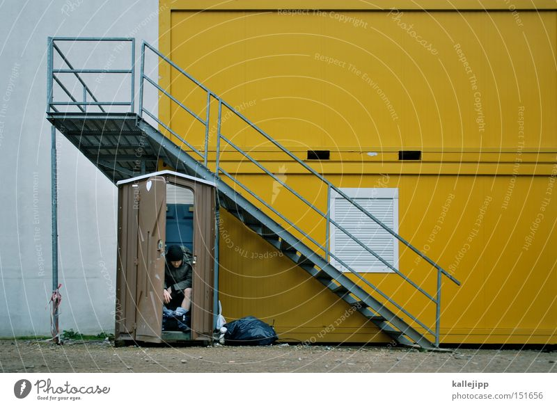 tag der offenen tür Mensch Mann Bad Baustelle Toilette Toilette Ladengeschäft Arbeiter Bauarbeiter Container 0 sanitär defäkieren Stuhlgang Miettoilette