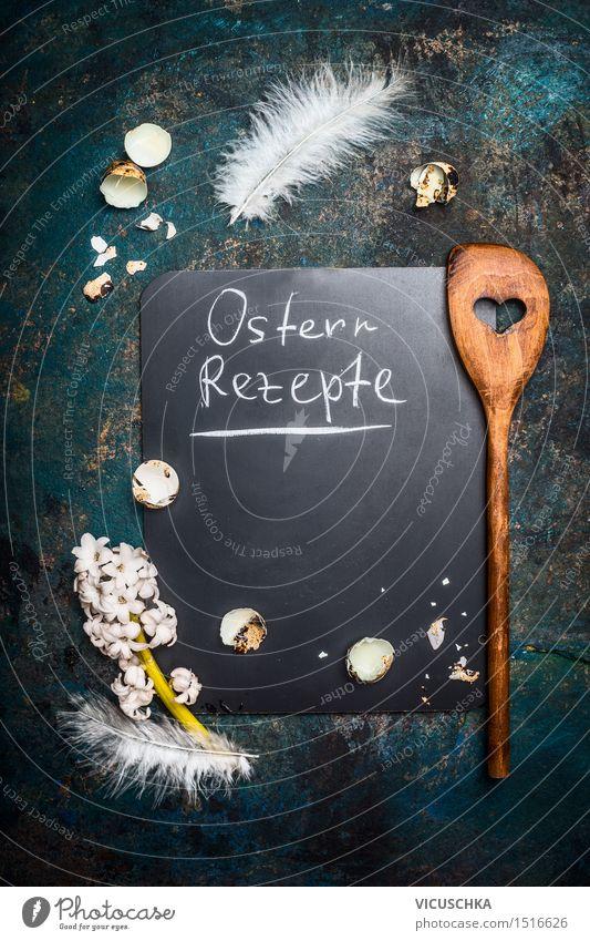 Ostern Kochen Hintergrund mit Text Speise Innenarchitektur Stil Hintergrundbild Feste & Feiern Design Häusliches Leben Dekoration & Verzierung Textfreiraum