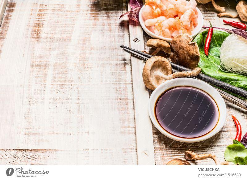 Asiatische Küche Essen Und Kochen Hintergrund Ein Lizenzfreies