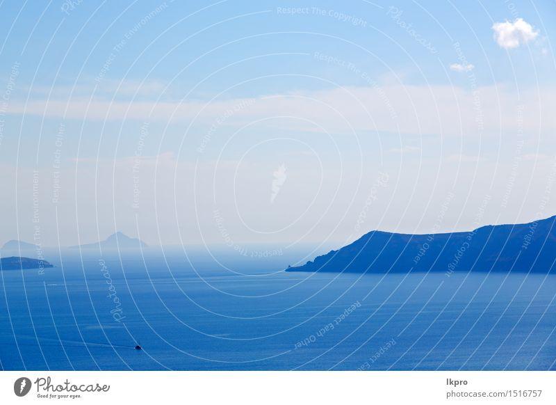und Felsen am Sommerstrand schön Erholung Ferien & Urlaub & Reisen Tourismus Ausflug Kreuzfahrt Strand Meer Insel Segeln Natur Landschaft Sand Wolken Horizont