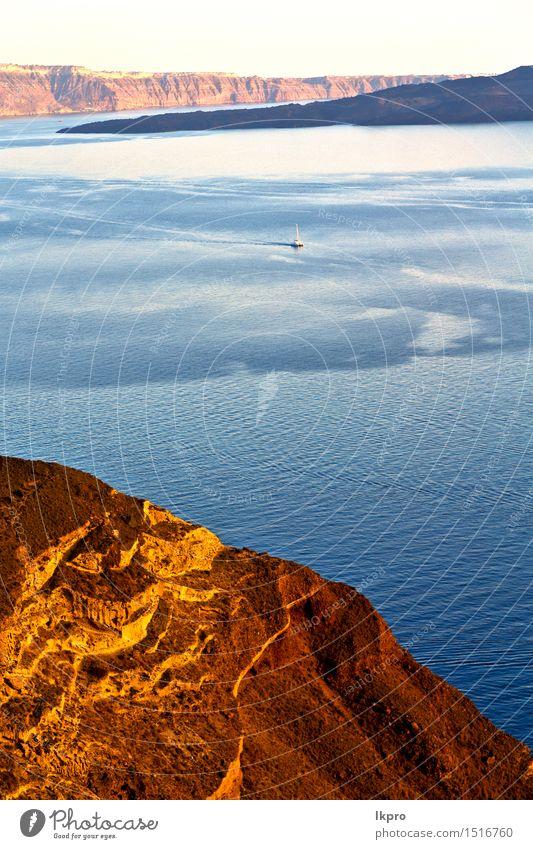 Hügel und Felsen am Sommerstrand Natur Ferien & Urlaub & Reisen schön weiß Meer Erholung Landschaft Wolken Strand schwarz Küste grau Sand Wasserfahrzeug