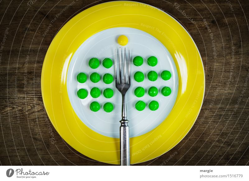 Auf den Punkt.... grün Gesunde Ernährung gelb Essen Holz Lebensmittel Dekoration & Verzierung Spitze Bioprodukte Übergewicht Restaurant Frühstück Dessert Teller