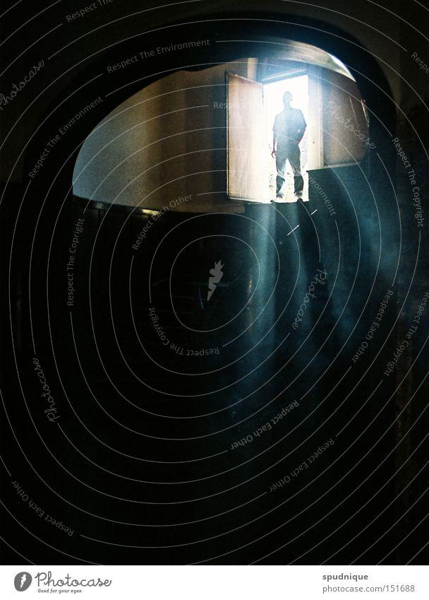 SUPERHERO Fenster Licht Beleuchtung Lichtstrahl Sonne Schatten Silhouette Besucher außerirdisch Außerirdischer Kraft Geister u. Gespenster Angst Panik Macht