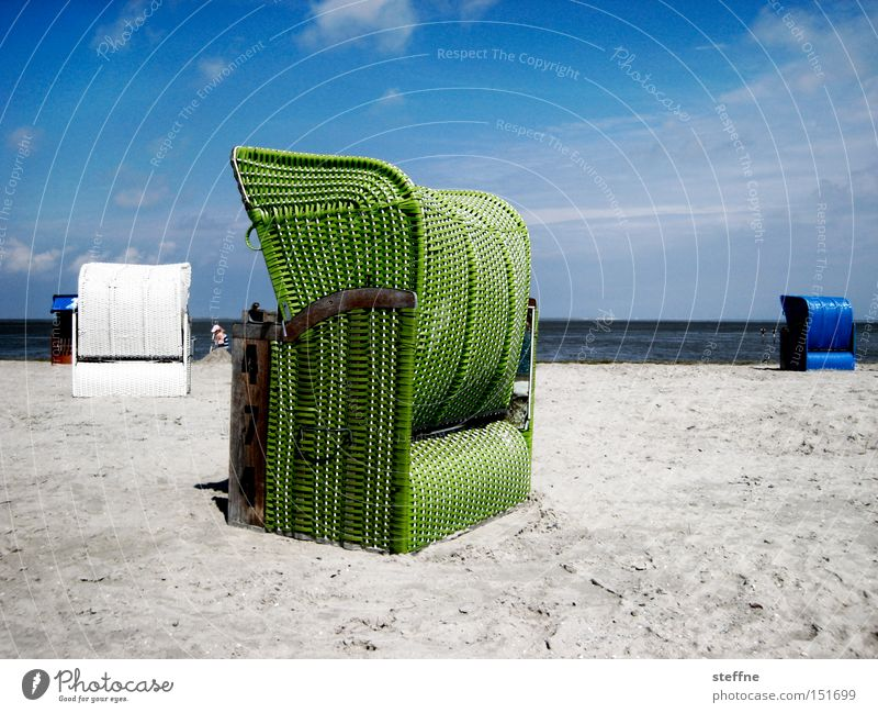 Weihnachtskarte Meer Sommer Strand Ferien & Urlaub & Reisen Einsamkeit Erholung Sand Freizeit & Hobby Ostsee Nordsee Strandkorb