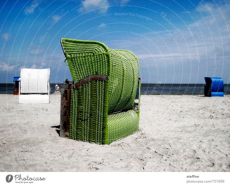 Weihnachtskarte Strand Strandkorb Meer Ferien & Urlaub & Reisen Sand Erholung Nordsee Ostsee Einsamkeit Freizeit & Hobby Sommer