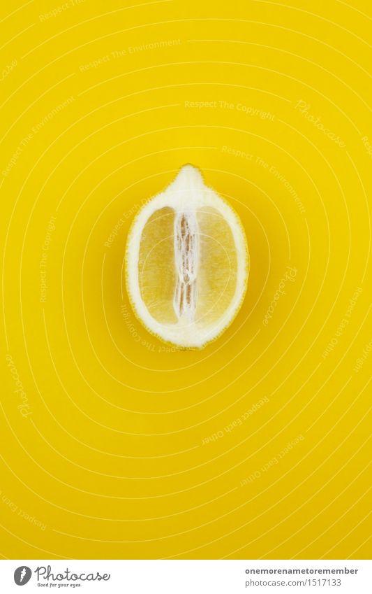 Jammy Zitrone auf Gelb Kunst ästhetisch knallig gelb Farbe intensiv zitronengelb Zitronensaft Zitronenscheibe Vitamin C Gesunde Ernährung Gesundheit