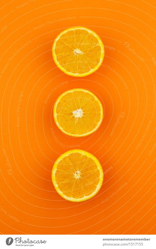 Jammy Orangen-Dreier auf Orange Gesunde Ernährung Gesundheit Kunst Design orange Dekoration & Verzierung ästhetisch Kreativität 3 lecker Kunstwerk knallig
