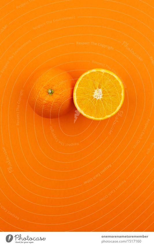 Jammy Doppelorange auf Orange Kunst Kunstwerk ästhetisch Orangensaft Orangerie Orangenhaut Orangenscheibe Design gestalten verrückt knallig mehrfarbig lecker