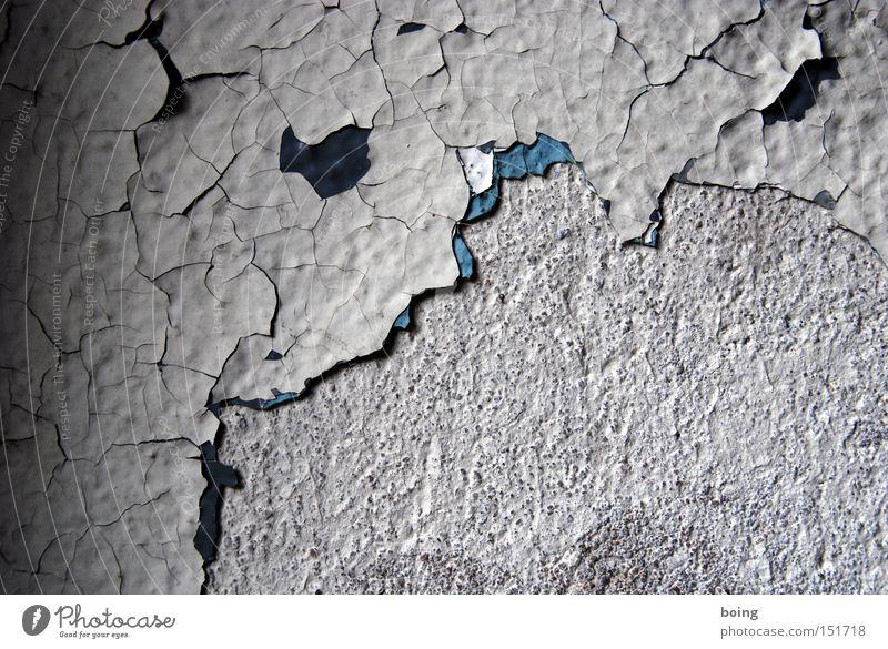 innen Lack Farbe Farbstoff Anstrich abblättern verfallen verwittert streichen Farbschicht Wand Putz Renovieren Detailaufnahme Vergänglichkeit Schichtarbeit