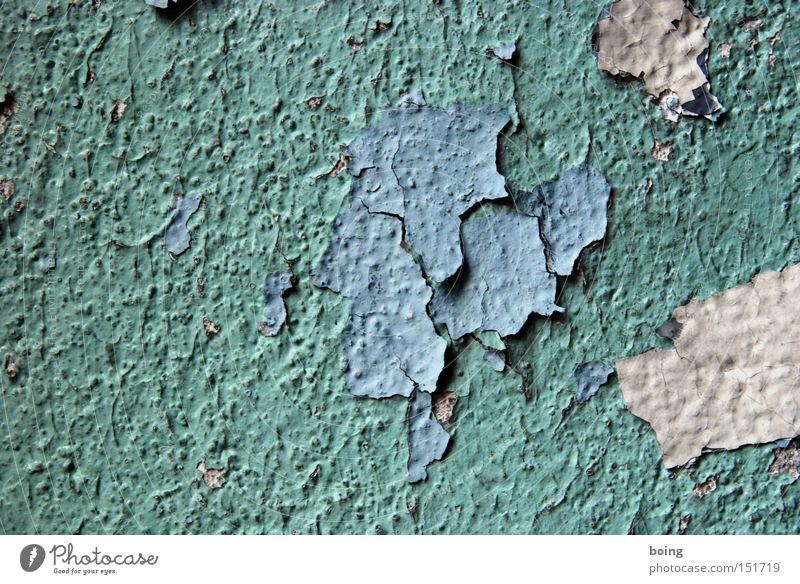 innen Farbe Wand Farbstoff Vergänglichkeit streichen verfallen Renovieren Putz Lack abblättern verwittert Anstrich Schichtarbeit Farbschicht