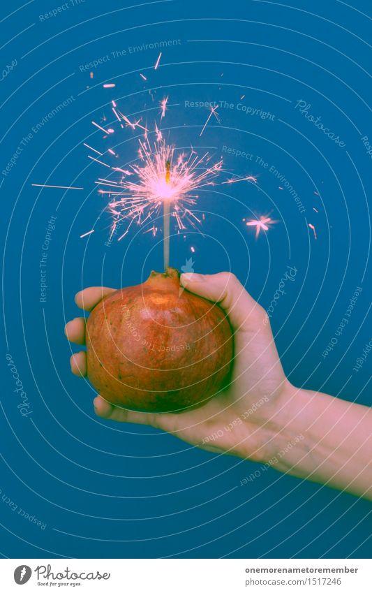 Kracher Kunst ästhetisch Granatapfel Granate explosiv heiß Silvester u. Neujahr Feuerwerk Spielen Explosion Explosionsgefahr rot gefährlich Knall Überraschung