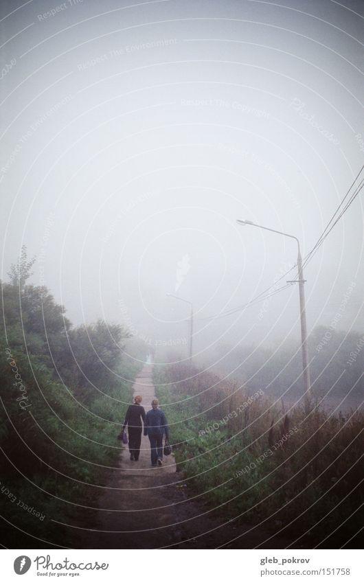 Nebel. Umnebelung Sibirien Reflexion & Spiegelung Blüte grün Himmel weiß Mensch Straße Licht Lichterscheinung Russland Jahreszeiten Sportveranstaltung