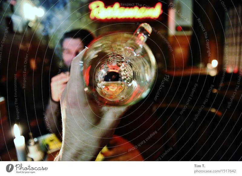 Prost Mensch Freude Erwachsene Leben Glück Feste & Feiern maskulin Freizeit & Hobby Glas Getränk trinken Bier Alkohol Erfrischungsgetränk Zuprosten 30-45 Jahre