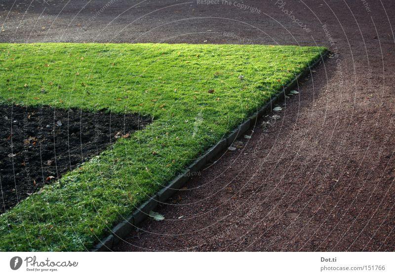 lange Ecke Spitze Rasen Beet Park Garten Lustgarten Am Rand Begrenzung Wege & Pfade Verkehrswege Grünstreifen Erde Einfassung Kies
