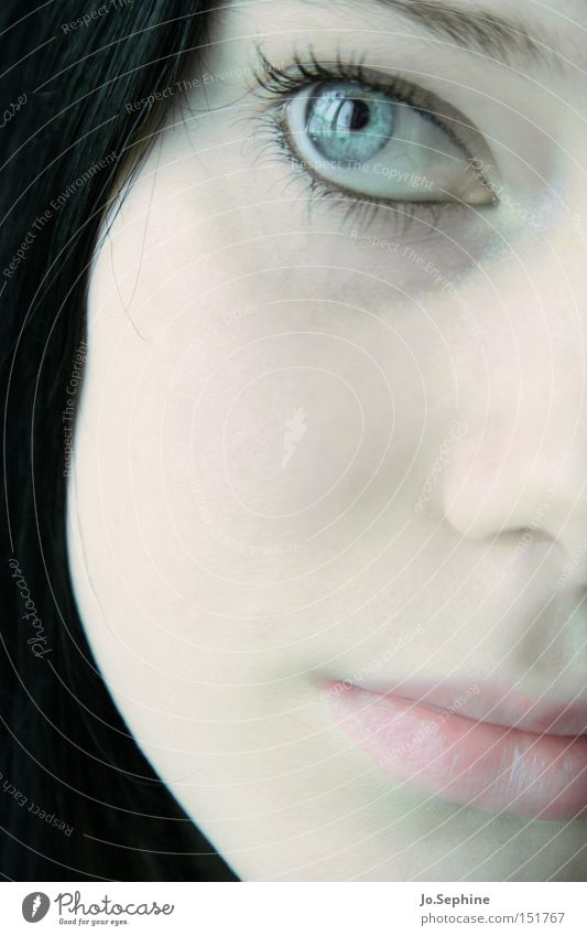 visage de porcelaine Mensch Jugendliche schön ruhig Gesicht Erwachsene Junge Frau Gefühle Traurigkeit Denken 18-30 Jahre träumen natürlich rosa Haut elegant