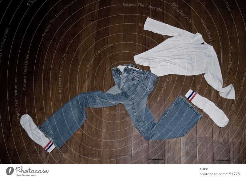 Lauf Forrest ... lauf! Lifestyle kaufen Freizeit & Hobby Karriere Mode Bekleidung T-Shirt Hose Jeanshose Strümpfe Holz laufen lustig verrückt blau braun weiß