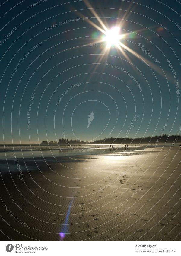 Spuren im Sand Sonne Meer Strand Ferne Wärme Insel niedlich Kanada Ebbe Vancouver Island