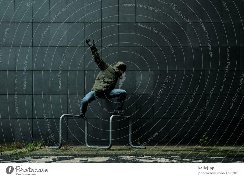 aus der bahn, wir entgleisen.. Mensch Mann Freude Spielen Lifestyle oben Zufriedenheit Wellen Aktion Körperhaltung Fliesen u. Kacheln Gleichgewicht Surfen