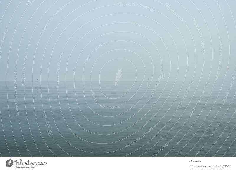 Nordsee Umwelt Natur Landschaft Urelemente Luft Wasser Himmel Wolken Horizont Erholung Klima Denken ruhig Wasseroberfläche Farbfoto Gedeckte Farben Menschenleer