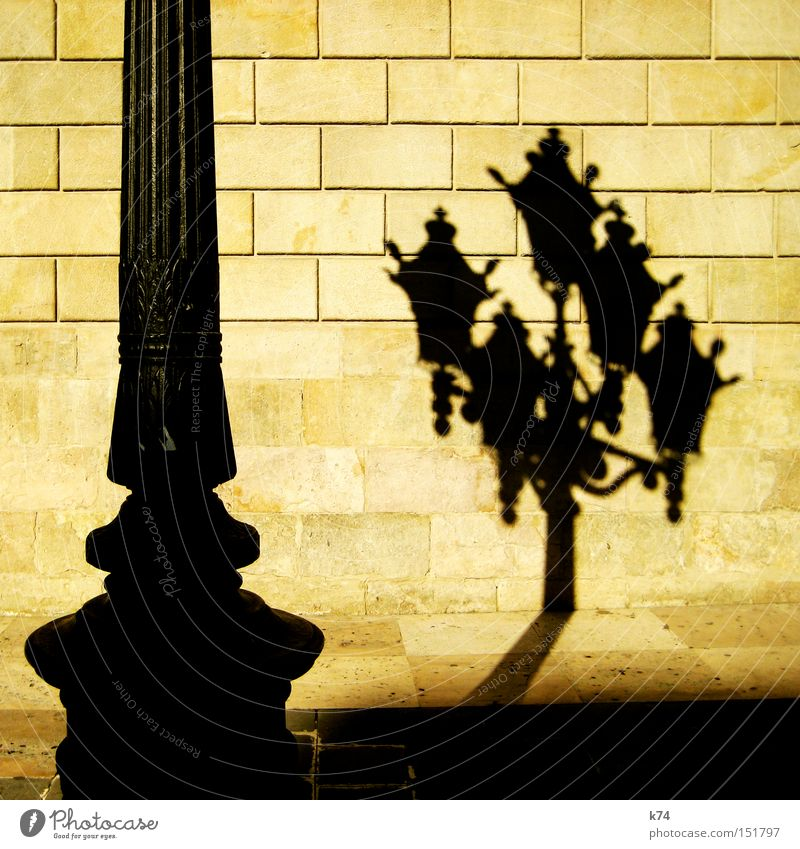 Laterne Wand Stahl Straßenbeleuchtung Selbstportrait Pfosten