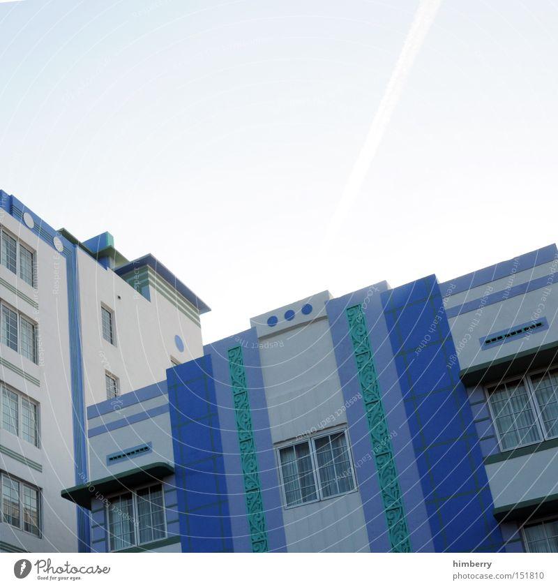 ocean drive Ferien & Urlaub & Reisen Haus Gebäude Architektur Design Fassade modern USA Hotel Amerika Promenade Anstrich Miami