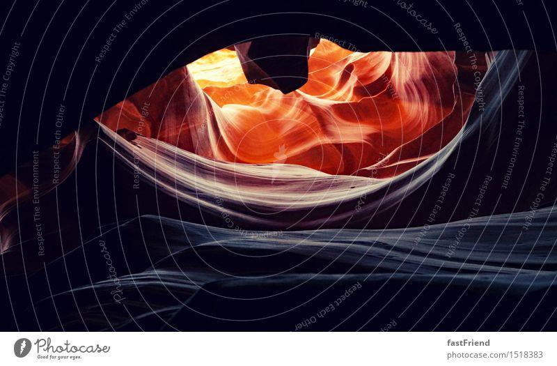 Das Auge des Drachens Erde Sand Wärme Felsen Wüste ästhetisch Antelope Canyon Amerika USA Höhle Farbfoto Gedeckte Farben Außenaufnahme Tag Licht Schatten