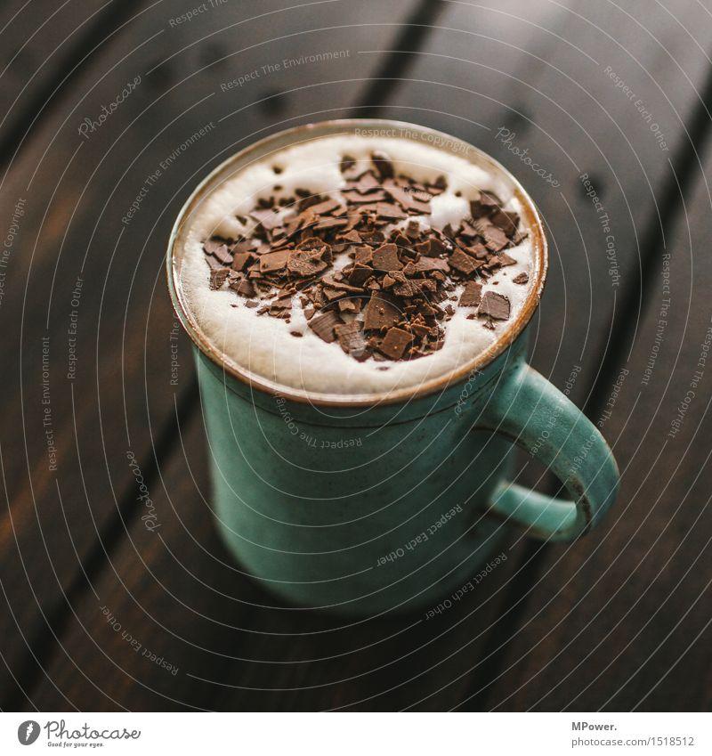 hot choc Ernährung Frühstück Kaffeetrinken Getränk Heißgetränk Kakao Latte Macchiato Tasse Becher heiß süß Schokolade Schokoladenstreusel Koffein Milchkaffee