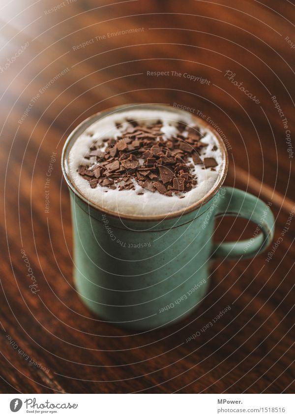 coffe-choc Ernährung Frühstück Kaffeetrinken Getränk Heißgetränk Kakao Kakaobohne Latte Macchiato Tasse Becher heiß schön süß Schokolade Schokoladenstreusel