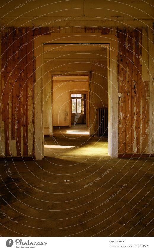 Durchblick Einsamkeit Haus Fenster Zeit Raum Häusliches Leben Vergänglichkeit verfallen Nostalgie Villa Klassik altmodisch Leerstand Jahrhundert