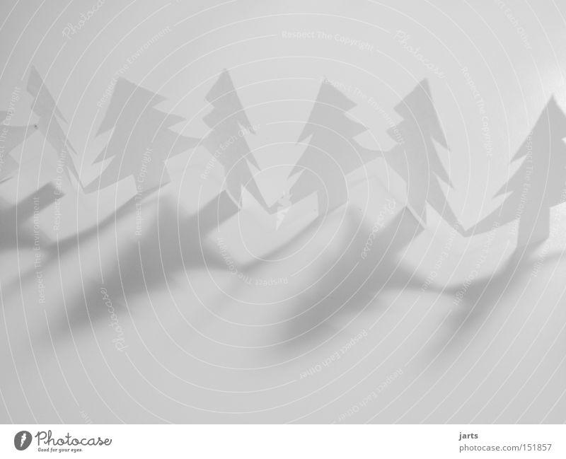 White Christmas Freisteller Weihnachten & Advent Weihnachtsdekoration weiß Baum Winter Schnee Feste & Feiern Textfreiraum Papier Schwarzweißfoto Weihnachtsbaum