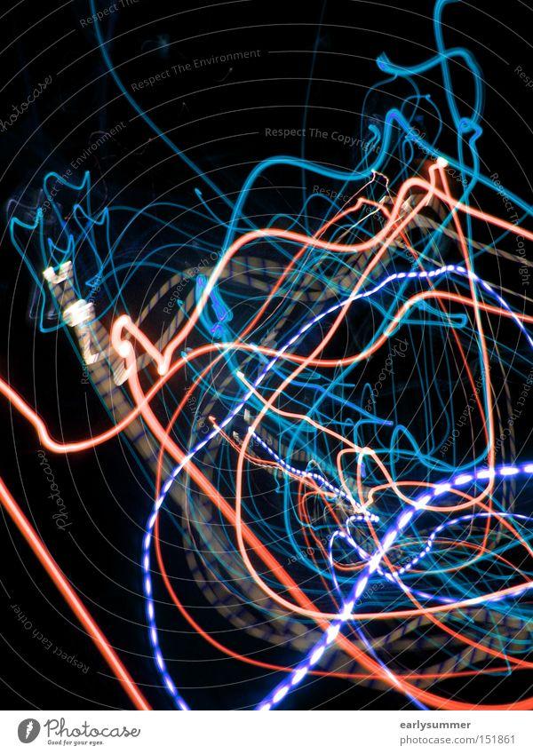 Santa coming to town blau rot schwarz abstrakt Licht Technik & Technologie Telekommunikation Wissenschaften Lichtspiel Leuchtdiode Laser High-Tech