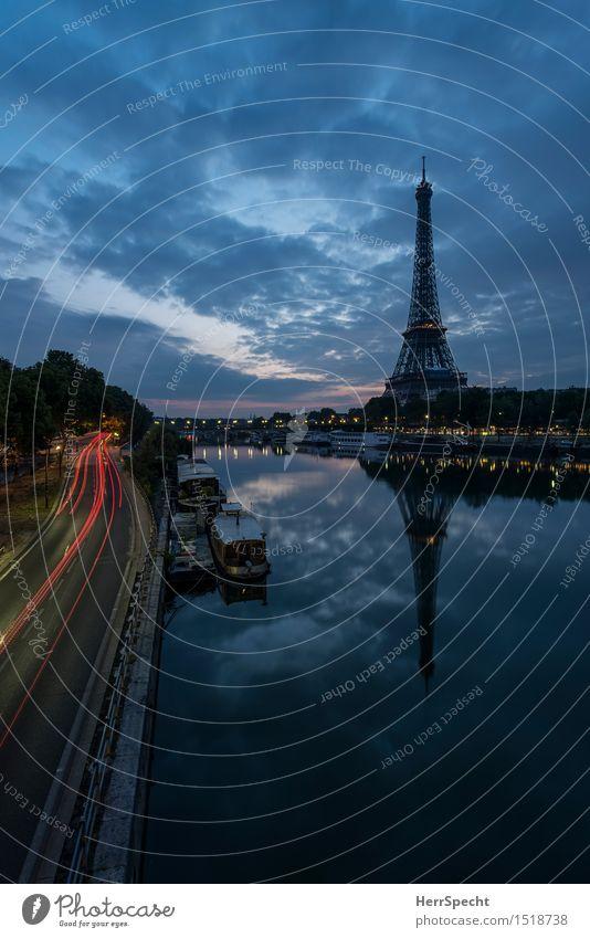 Klassiker Flussufer Seine Paris Frankreich Hauptstadt Stadtzentrum Turm Bauwerk Architektur Sehenswürdigkeit Wahrzeichen Tour d'Eiffel ästhetisch Bekanntheit