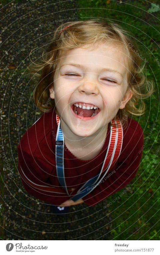 ::: Du bist der Weihnachtsmann? Hahahaha... ::: Kind Mädchen Ferien & Urlaub & Reisen Freude Gesicht Spielen Haare & Frisuren Glück klein lachen lustig Kindheit